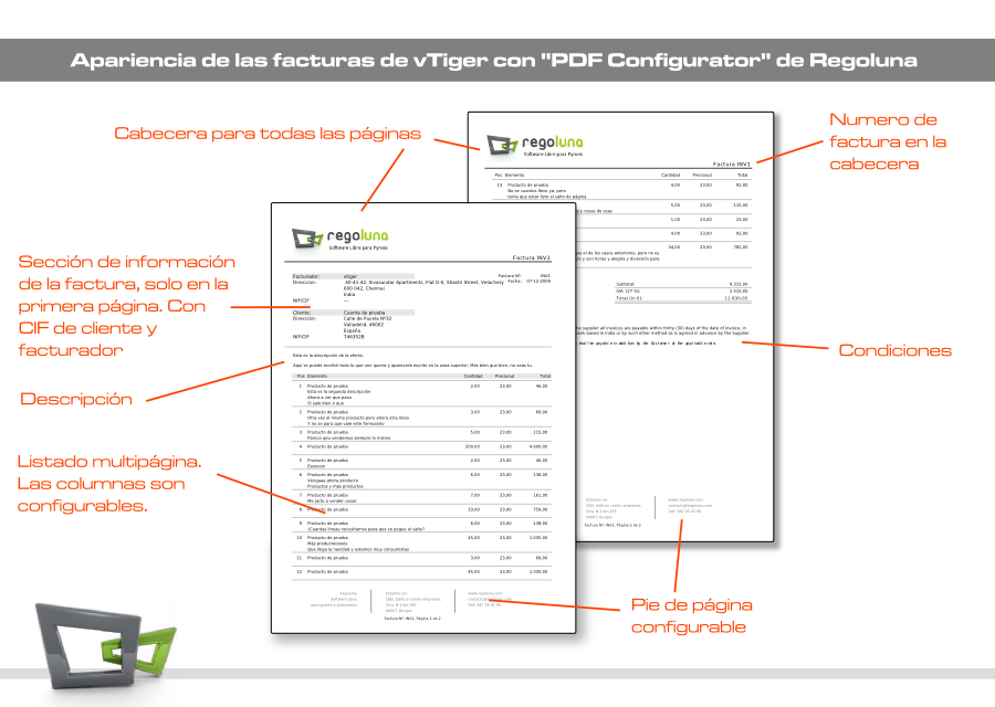 PDF Configurator para vTiger - Versión Española   Regoluna.